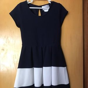 Navy and white rare edditions dress